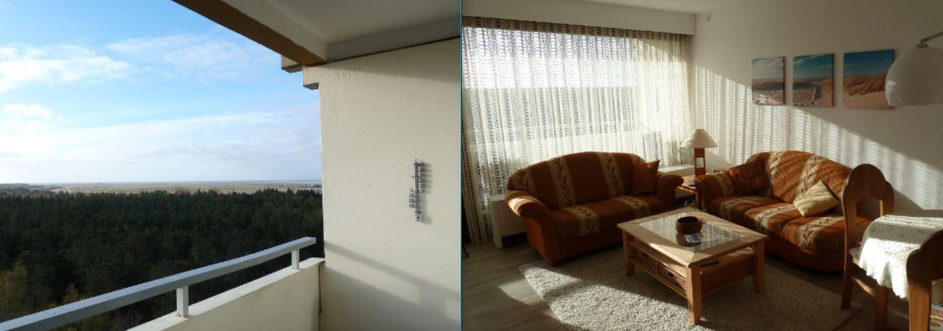 Balkon und Wohnzimmer - Appartement 162